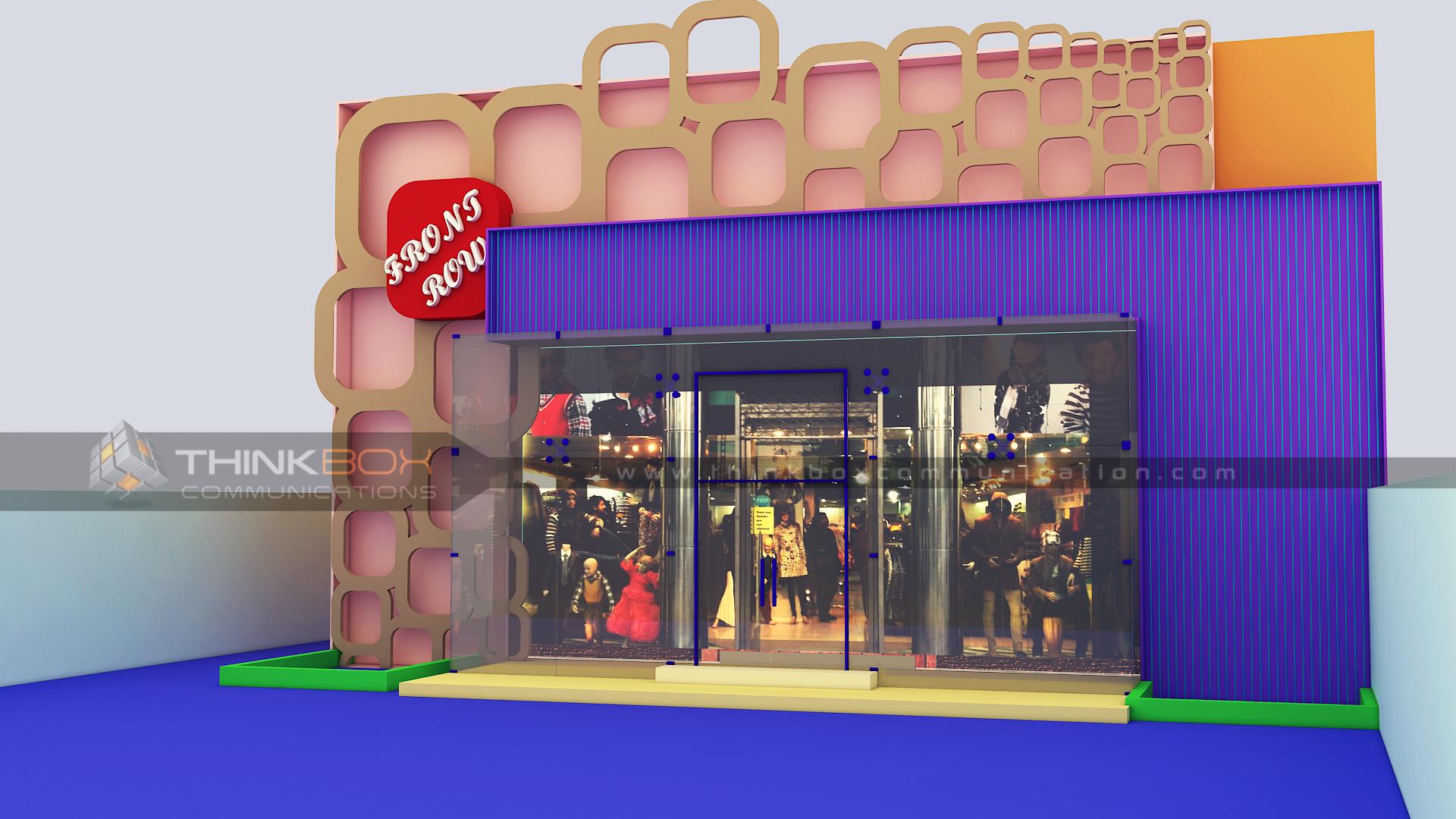 3D Model Front Row Boutique
